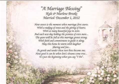 """""""A Marriage Blessing"""" Personalized Poem for Wedding"""