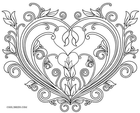 Printable Valentines Coloring Pages