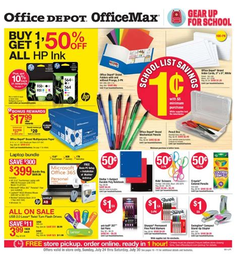 office depot coupons weekly ad office depot office max ad scan for 7 24 to 7 30 16