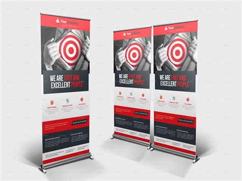 product banner template corporate business roll up banner vol 14 by blackcolt