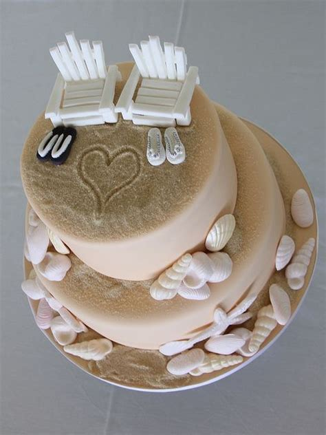 1000  ideas about Beach Theme Cakes on Pinterest   Beach