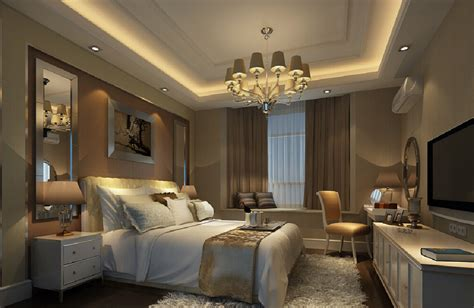 3D bedroom chandelier TV 3D House