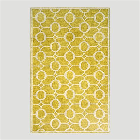 yellow outdoor rug yellow arabesque indoor outdoor rug world market