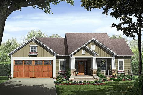 Craftsman Style House Plan 3 Beds 2 Baths Plan 21 246 Bungalow House Plans With Garage In Back