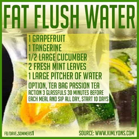 Flush And Detox Recipe by Flush Water Recipe Curious To See If This Works