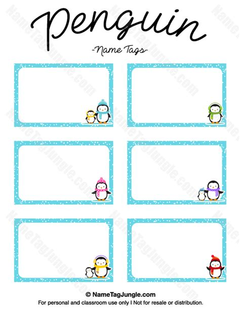 printable penguin name tags free printable penguin name tags the template can also be