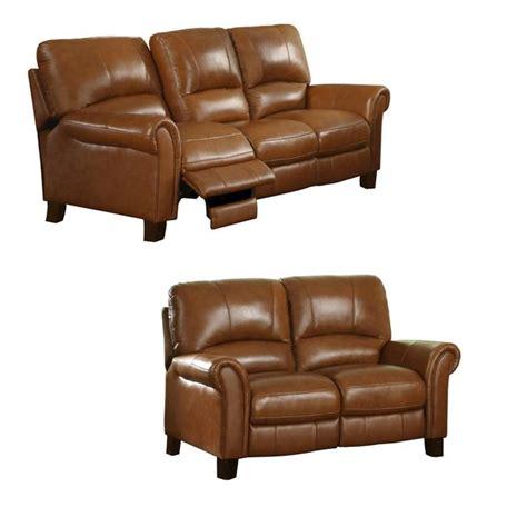 Italian Leather Reclining Sofa Charleston Honey Italian Leather Reclining Sofa And Loveseat 13278890 Overstock Shopping