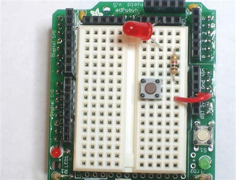 arduino pushbutton resistors arduino inputs lesson 5 testingforourclub
