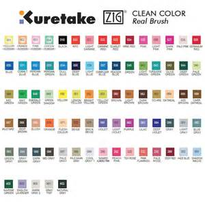 is color real kuretake zig clean color real brush pen rb 6000a cult pens