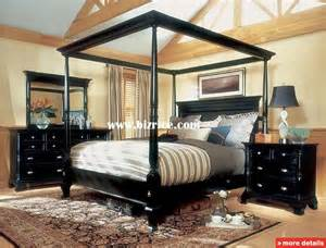 King Size Canopy Poster Bedroom Sets Magnussen Hastings King Size Four Poster Canopy Bed Set