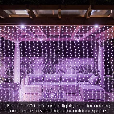 net lights outdoors led icicle string net curtain lights outdoor