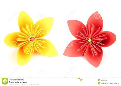 Japanese Paper Flower - origami flower stock photo image 36342850