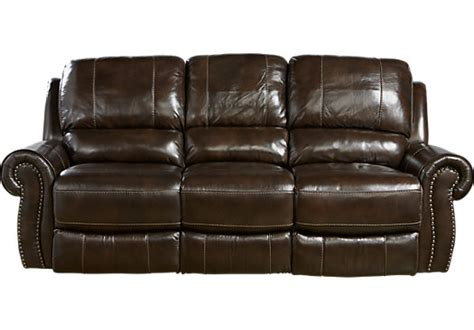 rooms to go power reclining sofa 1 455 00 frederickburg brown leather power reclining