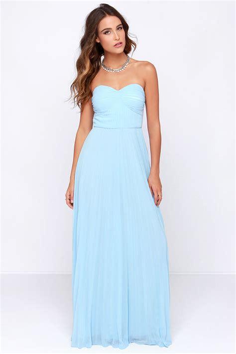lulu s light blue dress maxi dress strapless dress pleated