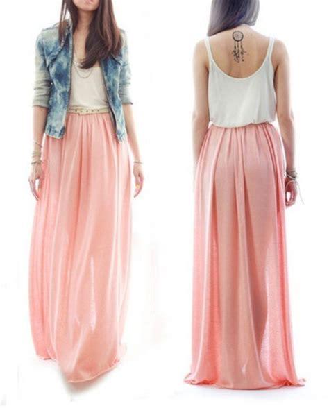 dress maxi skirt maxi dress boho light pink skirt