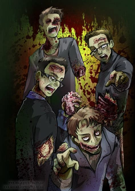 anime zombie zombie style anime portrait for mike by mair perkins