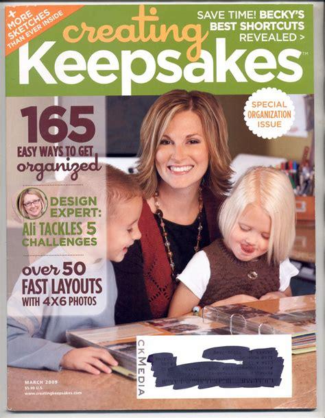 Creating Keepsakes Scrapbook Magazine March April 2012 creating keepsakes scrapbooking craft magazine march 2009 near mint