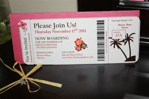 joanne s diy boarding pass invitations with photos and