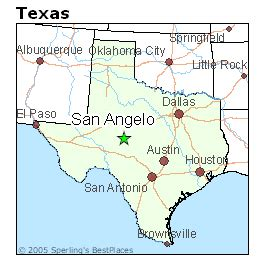where is san angelo on the map best places to live in san angelo