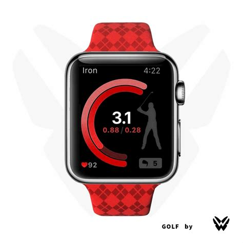 apple golf swing custom apple watch sport band golf blue red green match