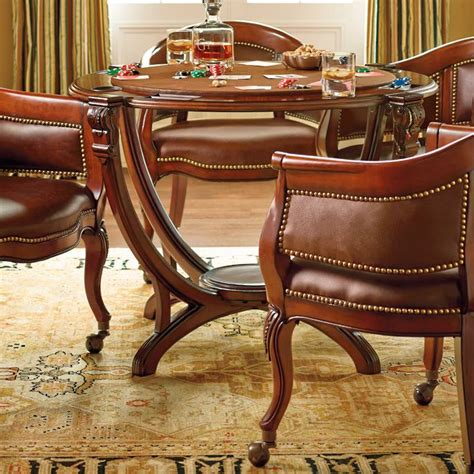 game table chairs with casters montgomery game table frontgate