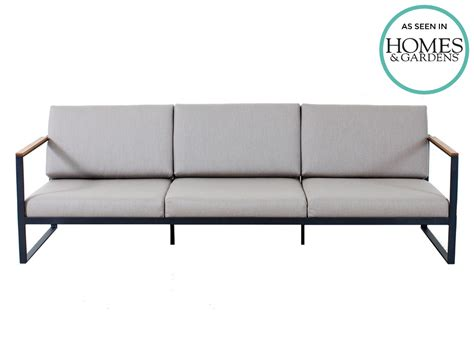3 seater sofa size r 246 shults garden easy outdoor three seater sofa by broberg