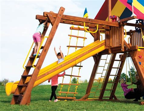 Rainbow Swing Sets by Wooden Swing Sets Rainbow Midwest