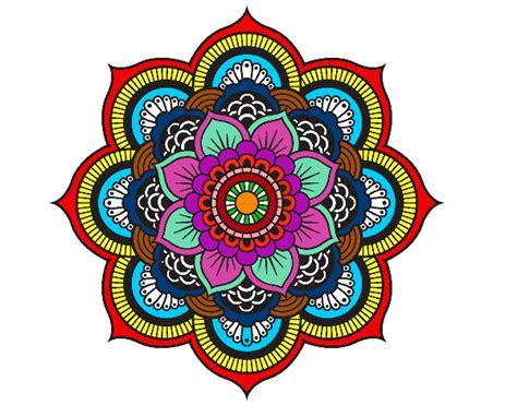 imagenes de mandalas faciles pintados dibujo de mandala flor oriental pintado por gusanobel en