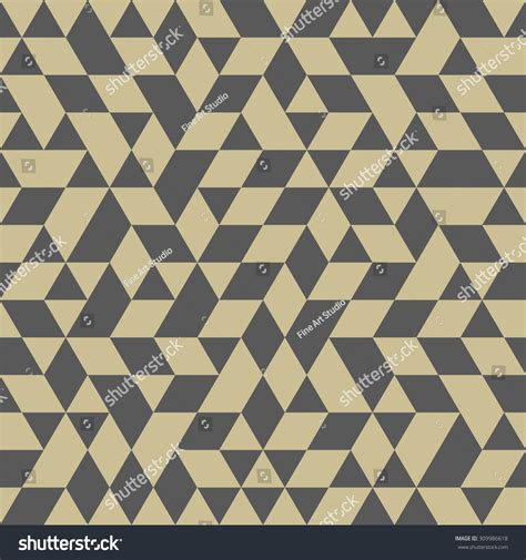 gray triangle pattern vector geometric texture gray golden triangles seamless stock