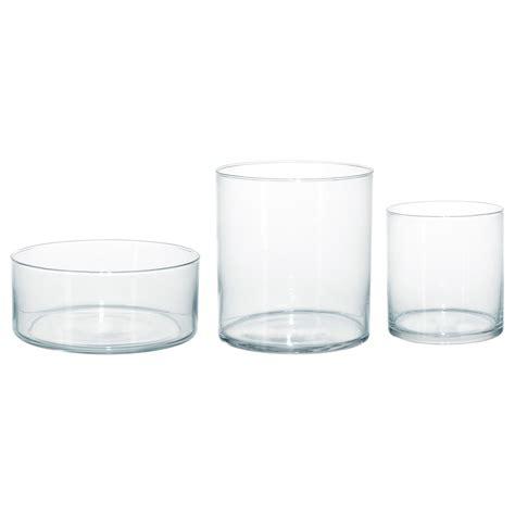 cylinder vase cylinder vase bowl set of 3 clear glass ikea