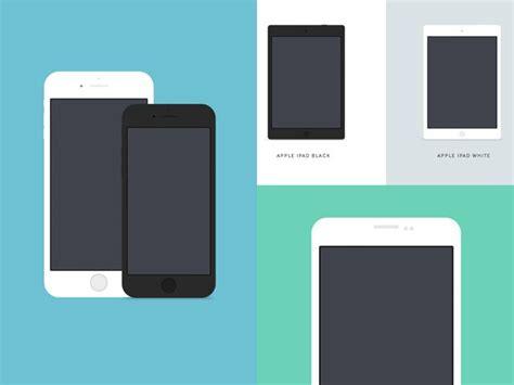 material design mockup ai 9 flat mockups including apple iphones 6 6plus and 5