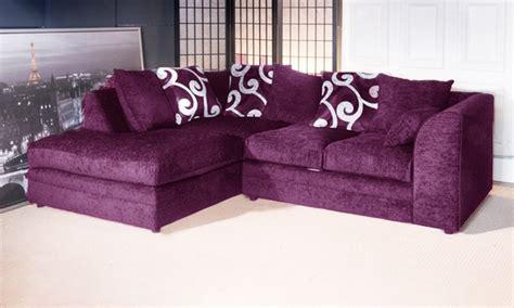 purple chenille sofa zina corner sofa 3 2 set fabric chenille grey black