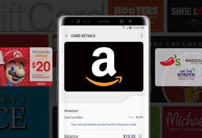 How To Use Samsung Pay Amazon Gift Card - use a gift card with samsung pay