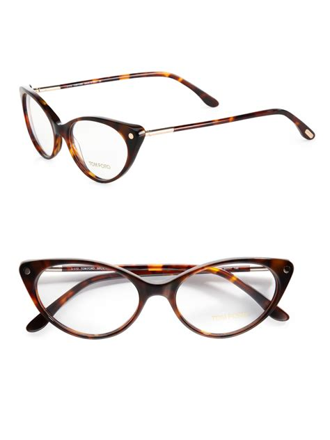 tom ford modern cats eye plastic eyeglasses in brown lyst