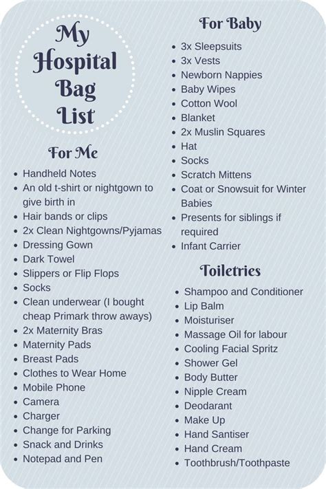 c section packing list what to pack in your hospital bag checklist moms and