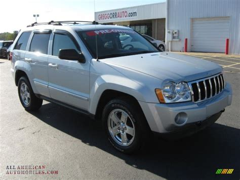 silver jeep grand cherokee 2007 2007 jeep grand cherokee limited crd 4x4 in bright silver