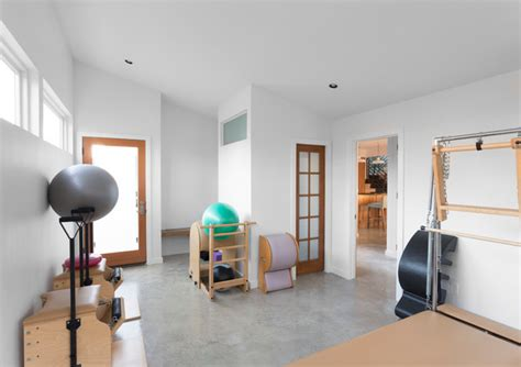 Home Pilates Studio Design Ideas Reduced Reused Recycled In Contemporary Home