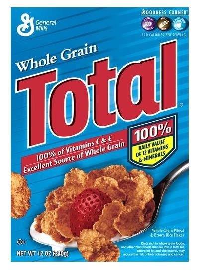 whole grains rich in iron general mill s whole grain total cereal foods rich in