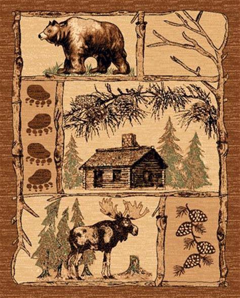 moose area rug lodge western theme house moose 2x3 area rug carpet door mat ebay