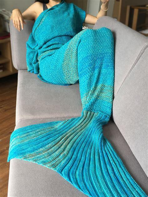 Toddler Bed Sale Uk Sleeping Bag Crochet Stripe Pattern Mermaid Tail Blanket