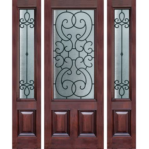 Wrought Iron And Glass Doors Wrought Iron Door Lites Glass And Iron Doors