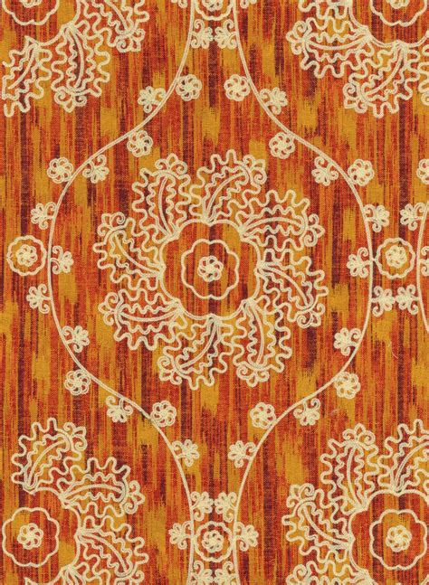 iman home decor home decor print fabric iman mythical medallion spice jo