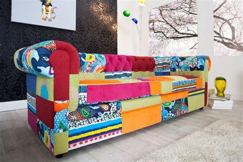 Bunte Designer Sofas by Design Chesterfield Sofa Patchwork Paradise Bunt