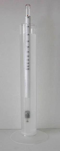 swing arm hydrometer fecal solution preparation