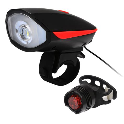 bike front and rear light set bike light bell horn set front and rear light set bicycle