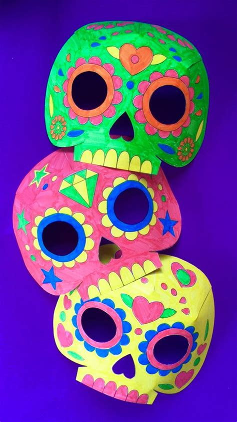 day of the dead skull mask template day of the dead the dead and mask template on