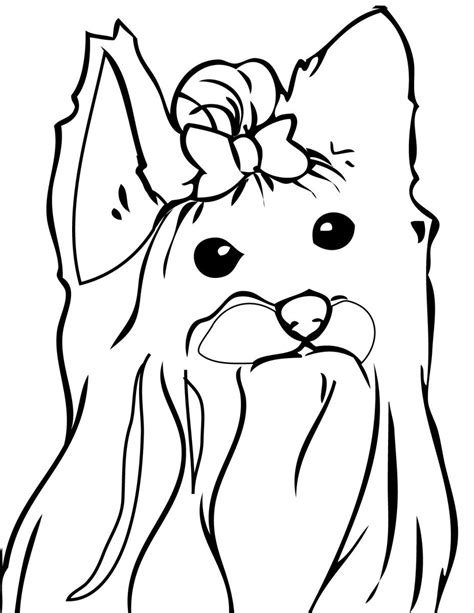 coloring page yorkie poo teacup yorkie coloring pages coloring pages