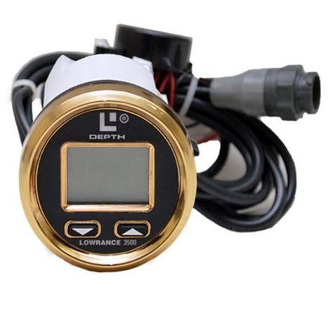 digital depth gauge for boats lowrance 3500 digital gold black boat depth finder w