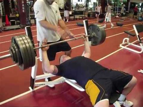 bench press 500 jake zuzek navy football 500lb bench press youtube