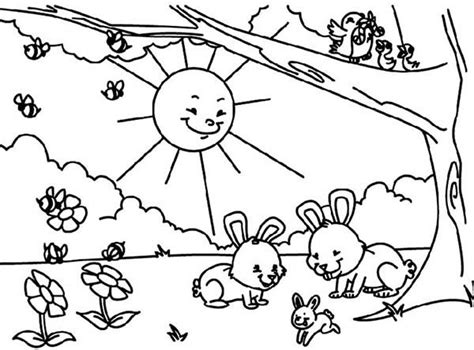 spring sun coloring page 25 best coloring pages nursery rhymes images on